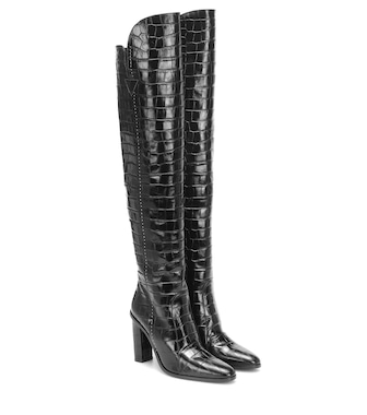 Max Mara - Beboot leather over-the-knee boots - mytheresa.com