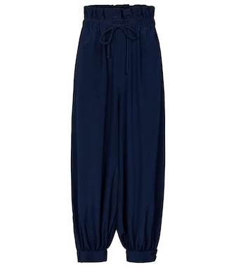 Stella McCartney - Lauryn cuffed silk pants - mytheresa.com