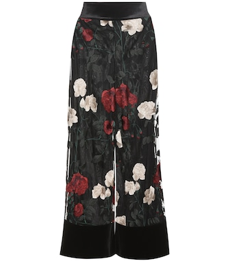 Ganni - Simmons embroidered tulle trousers - mytheresa.com