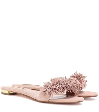 Aquazzura - Wild Thing slide flats - mytheresa.com