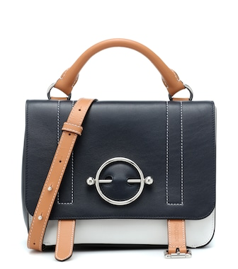 JW Anderson - Disc Satchel leather shoulder bag - mytheresa.com