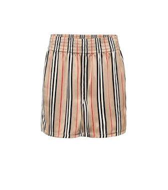 Burberry - Icon Stripe silk shorts - mytheresa.com