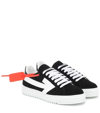 Off-White - Degrade Arrow suede sneakers - mytheresa.com