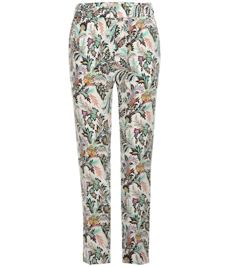 Etro - Printed silk trousers - mytheresa.com