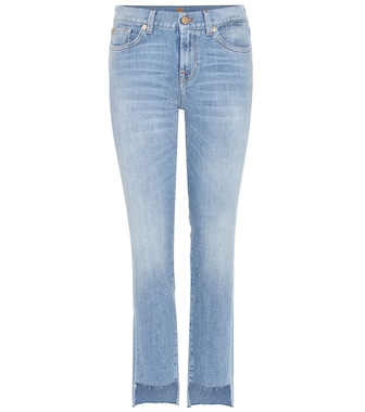 7 For All Mankind - Mid-rise Roxanne jeans with cropped step hem - mytheresa.com