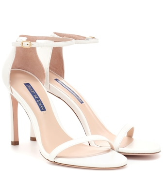 Stuart Weitzman - Nudistsong leather sandals - mytheresa.com