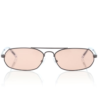 Balenciaga - Rectangular metal sunglasses - mytheresa.com