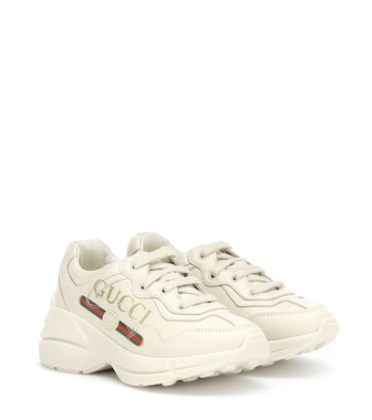Gucci Kids - Rhyton leather sneakers - mytheresa.com