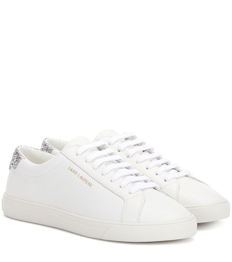 Saint Laurent - Andy perforated leather sneakers - mytheresa.com