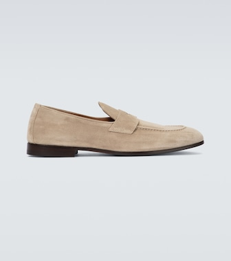 Brunello Cucinelli - Suede penny loafers - mytheresa.com