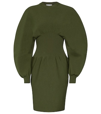 Bottega Veneta - Wool-blend midi dress - mytheresa.com