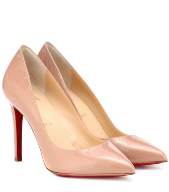 Christian Louboutin - Pigalle 100 patent leather pumps - mytheresa.com