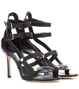 Jimmy Choo - Motoko 85 leather sandals - mytheresa.com