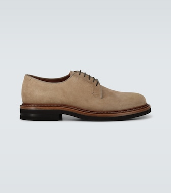 Brunello Cucinelli - Suede Derby shoes - mytheresa.com