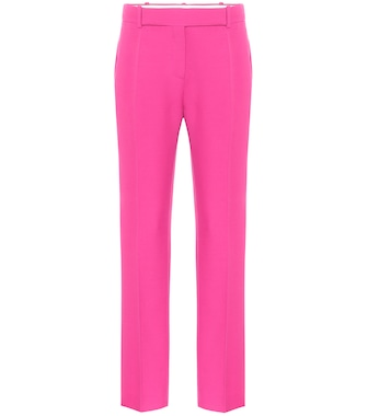 Valentino / Garavani - Valentino high-rise slim wool and silk pants - mytheresa.com