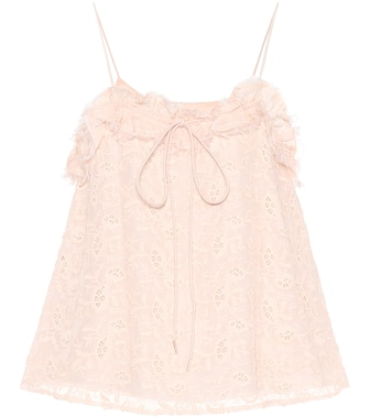See By Chloé - Embroidered cotton and silk top - mytheresa.com