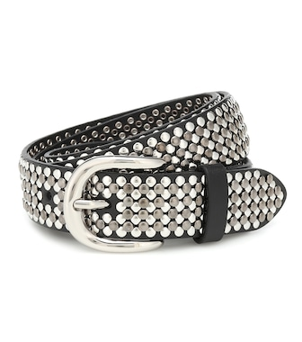 Isabel Marant - Studded leather belt - mytheresa.com