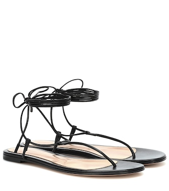 Gianvito Rossi - Gwyneth leather sandals - mytheresa.com
