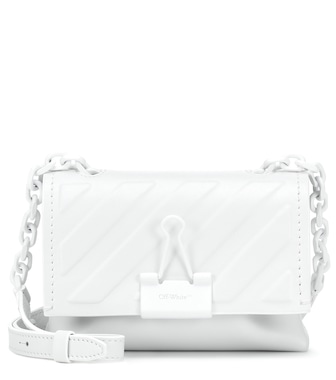 Off-White - Binder Clip Small leather crossbody bag - mytheresa.com