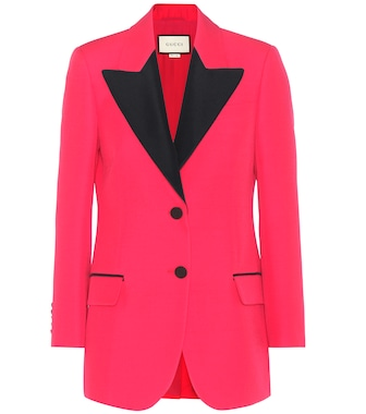 Gucci - Wool and silk blazer - mytheresa.com