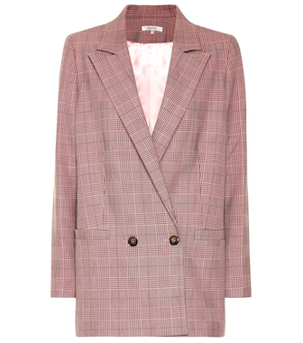 Ganni - Checked blazer - mytheresa.com