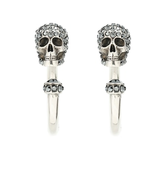 Alexander McQueen - Skull hoop earrings - mytheresa.com