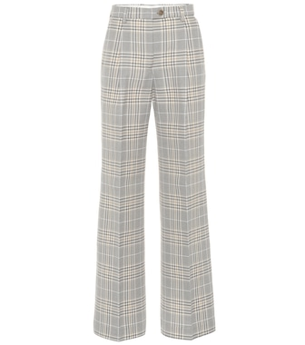 Acne Studios - Checked cotton-blend wide-leg pants - mytheresa.com