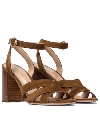 Gianvito Rossi - Beya 85 suede sandals - mytheresa.com