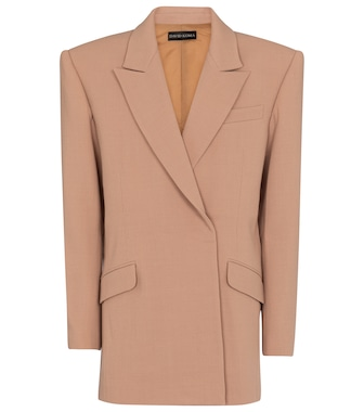 David Koma - Oversized wool-blend crêpe blazer - mytheresa.com
