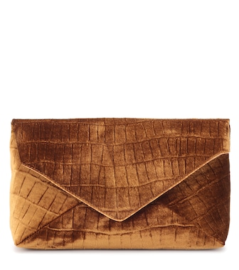 Dries Van Noten - Velvet clutch - mytheresa.com