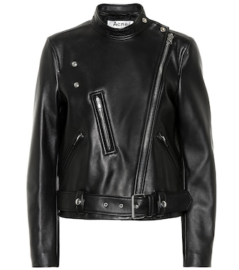 Acne Studios - Motorcycle leather jacket - mytheresa.com
