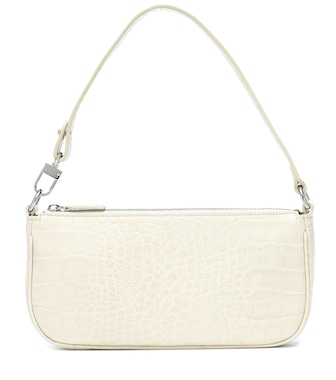 By Far - Rachel croc-effect leather shoulder bag - mytheresa.com
