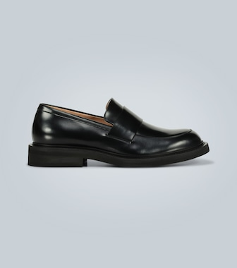 Bottega Veneta - Rubber-sole leather loafers - mytheresa.com