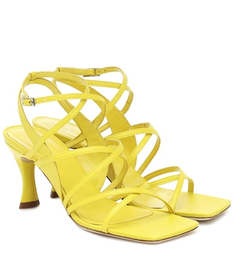 By Far - Christina leather sandals - mytheresa.com
