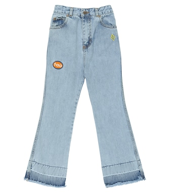 The Animals Observatory - Condor logo appliqué bootcut jeans - mytheresa.com