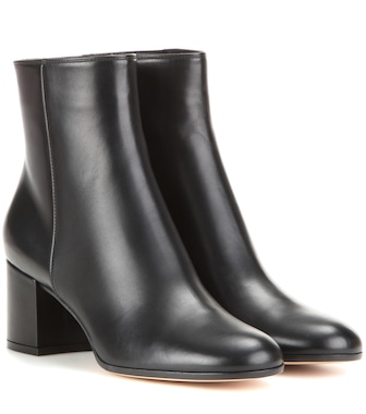 Gianvito Rossi - Margaux Mid leather ankle boots - mytheresa.com