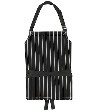 Balenciaga - Apron striped cotton-twill top - mytheresa.com