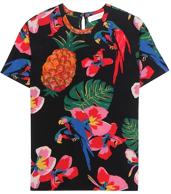Valentino - Printed silk top - mytheresa.com