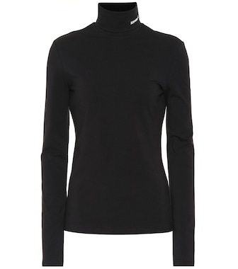 Calvin Klein 205W39NYC - Stretch-cotton turtleneck top - mytheresa.com