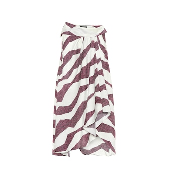 Isabel Marant - Rebeca printed silk-blend midi skirt - mytheresa.com