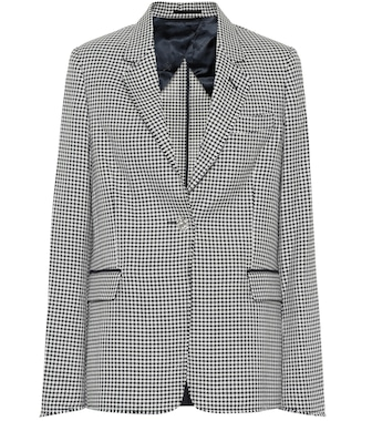 Golden Goose - Checked wool and cotton blazer - mytheresa.com
