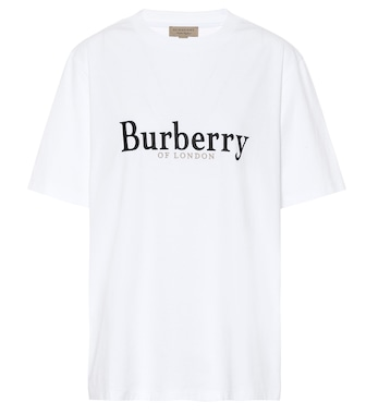 Burberry - Embroidered cotton T-shirt - mytheresa.com