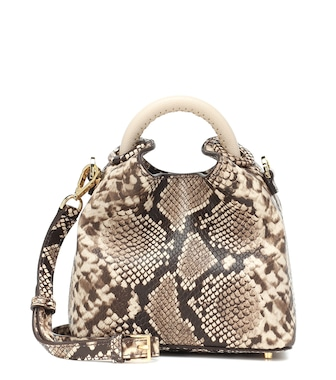 Elleme - Exclusive to Mytheresa – Madeleine snake-effect shoulder bag - mytheresa.com