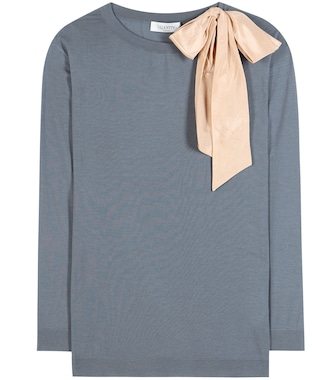 Valentino - Embellished virgin wool sweater - mytheresa.com