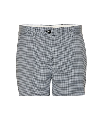 Miu Miu - Wool-blend houndstooth shorts - mytheresa.com