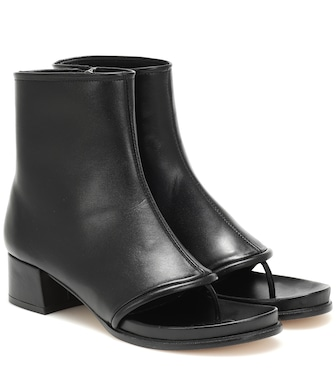 Loewe - Thong 60 leather ankle boots - mytheresa.com