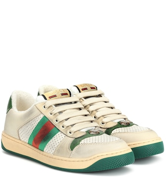 Gucci - Screener leather sneakers - mytheresa.com