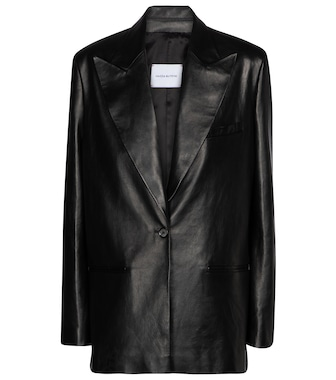 Magda Butrym - Single-breasted leather blazer - mytheresa.com
