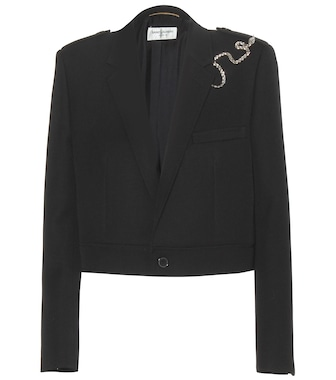 Saint Laurent - Embellished wool jacket - mytheresa.com