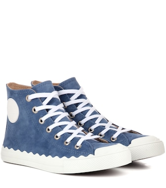 Chloé - Kyle suede high-top sneakers - mytheresa.com
